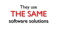 they use the same software solutions